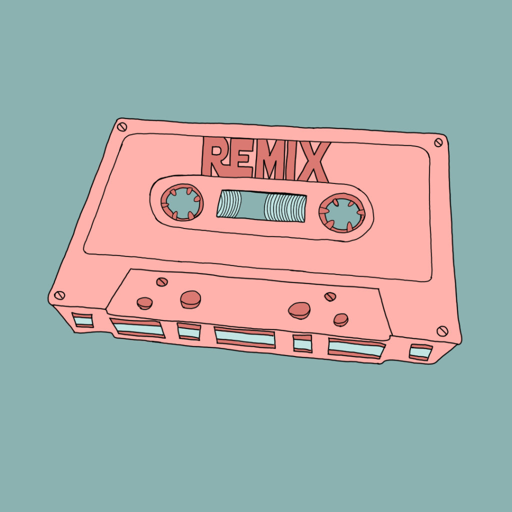 """Remix. Die Sammlung neu sehen Unter dem Begriff """"Remix"""" wird ursprünglich die Neumischung eines vorhandenen Musikstücks verstanden."""