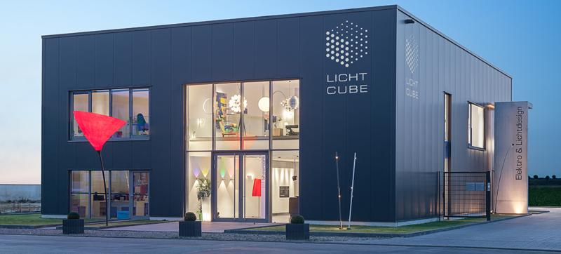 Licht Cube außen