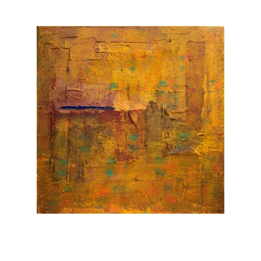 Dr. Ellen Buckermann – ErdReich III, Acryl und Trägerstoffe auf Leinwand,80 x 80 cm