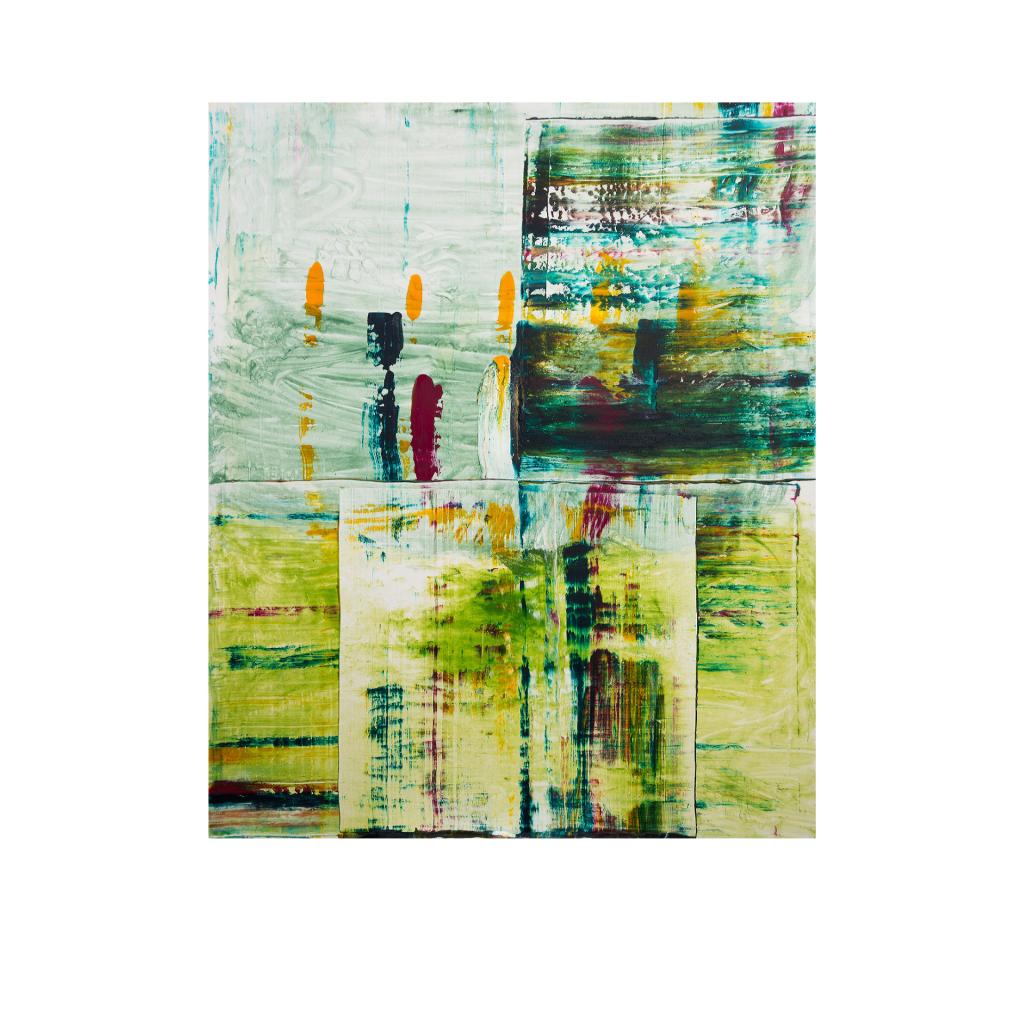 Dr. Ellen Buckermann – Tango – Acryl in Trägerstoffen, 100 x 120 cm
