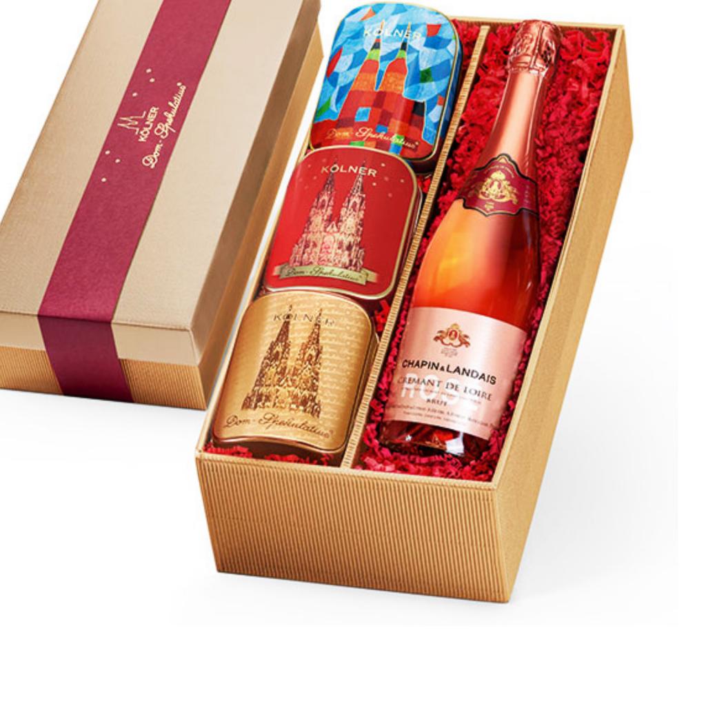 Geschenkkiste Domissimo Rot – Crémant Rosé Brut