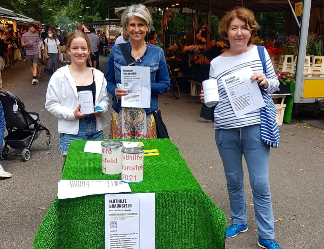 Fluthilfe für Erftstadt Initiative Wochenmarkt Braunsfeld